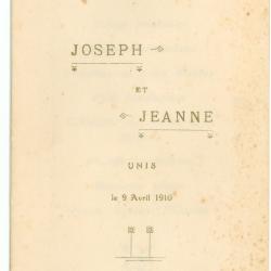 Franse menukaart 1910