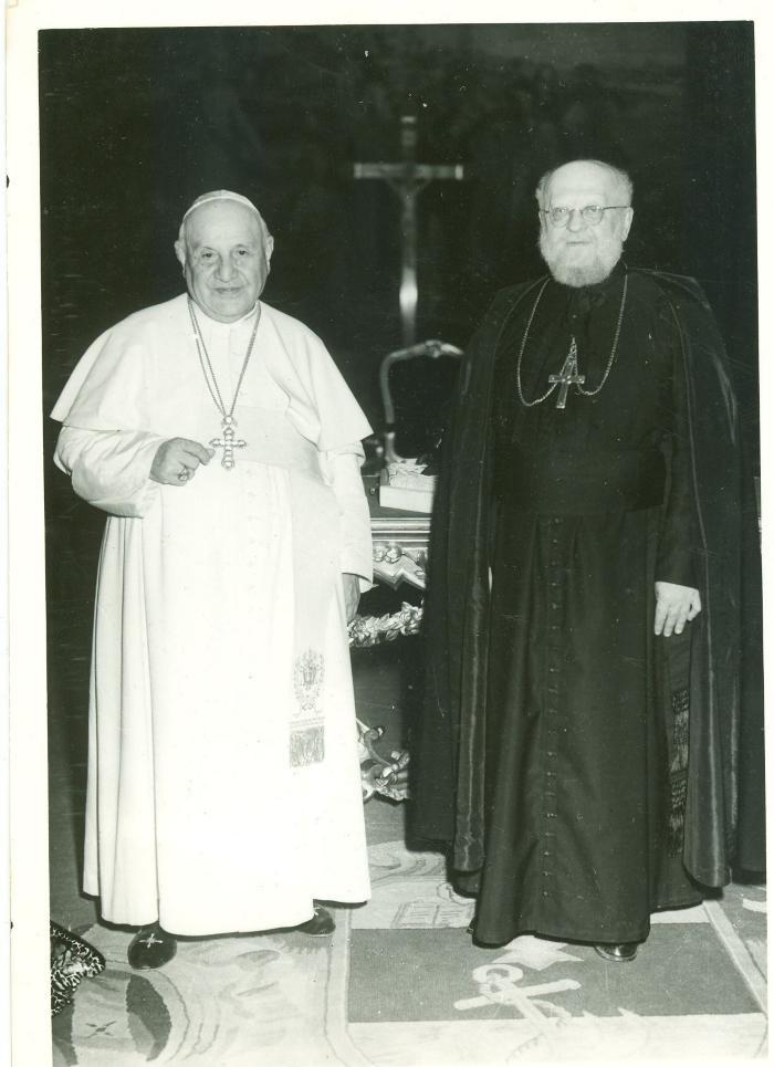 Monseigneur Buyse bij Paus