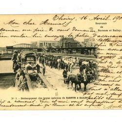Postkaarten met treinen van Barnum en Bailey circus