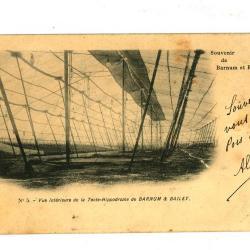 Postkaart van de Hippodroomtent van het Barnum en Bailey circus