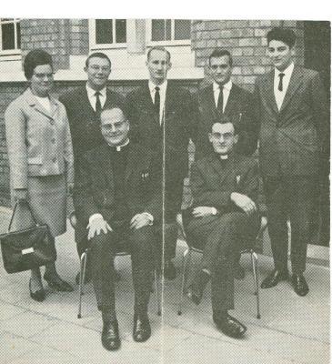 Nieuwe leerkrachten VTI, Roeselare, 1964