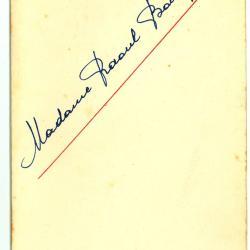 Nederlandstalige menukaart 1951