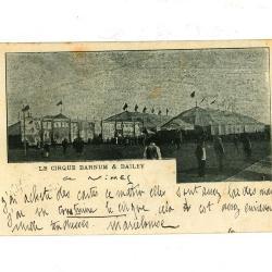 Postkaart van het Barnum en Bailey circus
