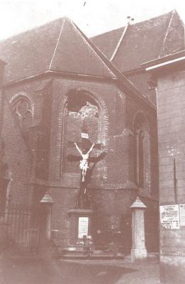 Beschoten St.-Michielskerk, Roeselare 19 oktober 1914