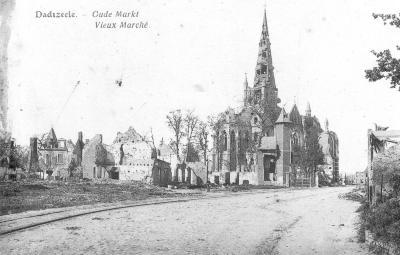 Oude Markt Dadizele in puin