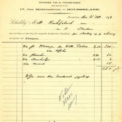 Factuur van Aug. Vyncke - Damman, Roeselare, 1932