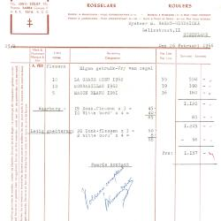 Factuur van Etabl. A. Vanden Bulcke, Roeselare, 1966
