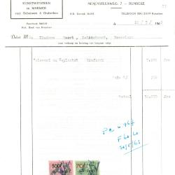 Factuur van Lucien Rommelaere-Declercq, Roeselare, 1963