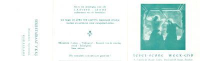 Uitnodiging tot het Levet scone Weekend Bisschoppelijk Lyceum, Roeselare