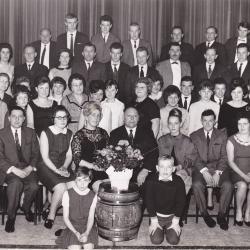 Kerstfeest bij Soep IDEAL, Izegem, 1965
