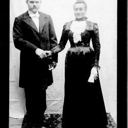Huwelijksfoto Jan Frans Blomme en Sylvie Stragier