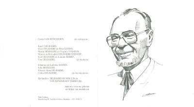 Bidprentje André Delbaere, Roeselare, 1998