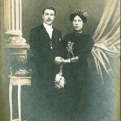 Eerste generatie Julien Sambaer en Eugenie Verhaeghe, huis Sambaer, Roeselare