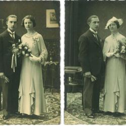 Huwelijksfoto Roger Vanrenterghem en Gabriella Vandenbroucke