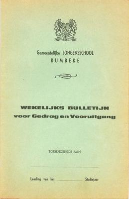 Wekelijks bulletijn Gemeentelijk Jongensschool, Rumbeke, 1965