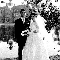 Huwelijksfoto Jacques Windels en Yolanda Azou