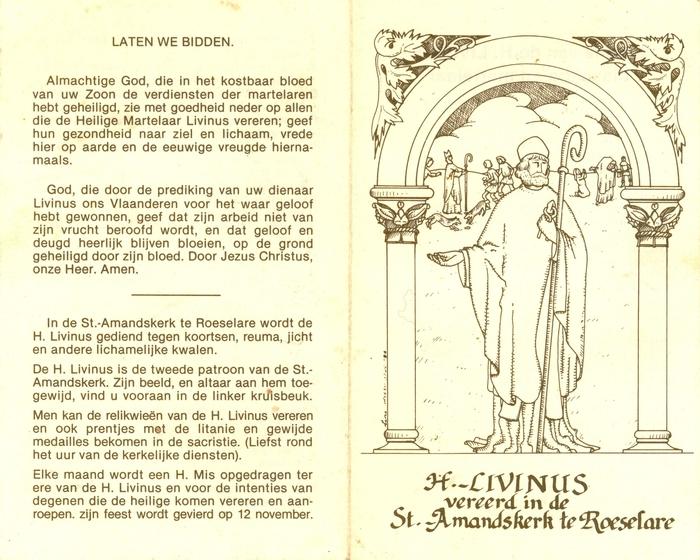 De litanie van de H.Livinus, bisschop en martelaar, Roeselare