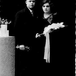 Huwelijksfoto Leon Devolder en Emma Dejonghe