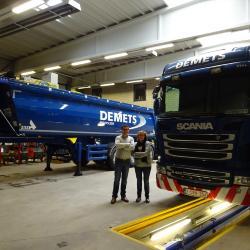 De derde generatie: Tamara Demets en Geert Gaby, Transport Demets, Moorslede