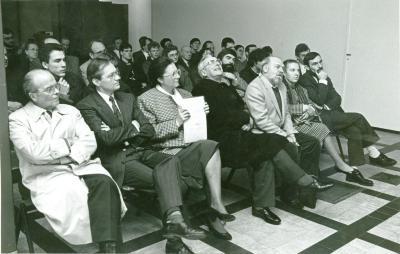 Opening expositie Damiaanactie, Roeselare, jaren 1990