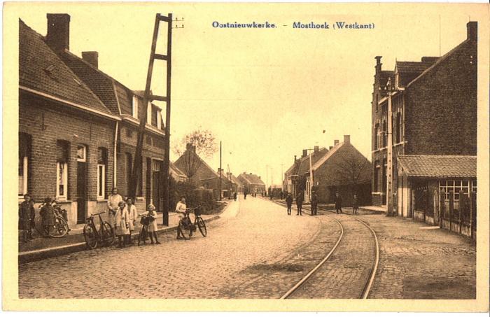 Oostnieuwkerke. - Mosthoek (Westkant)