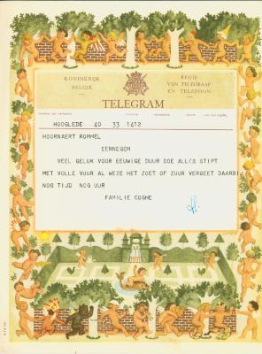 Huwelijkstelegrammen voor de familie Hoornaert-Rommel 4