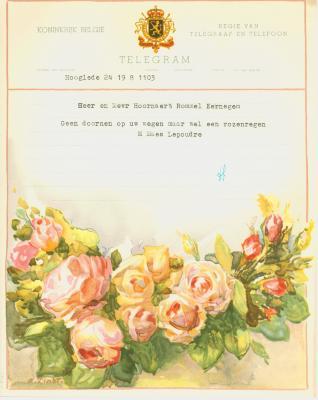 Huwelijkstelegrammen voor de familie Hoornaert-Rommel 6