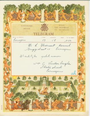 Huwelijkstelegrammen voor de familie Hoornaert-Rommel 9