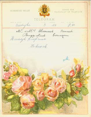 Huwelijkstelegrammen voor de familie Hoornaert-Rommel 7