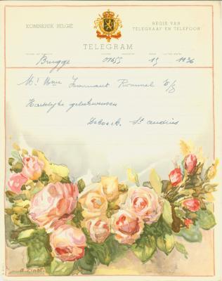Huwelijkstelegrammen voor de familie Hoornaert-Rommel 5