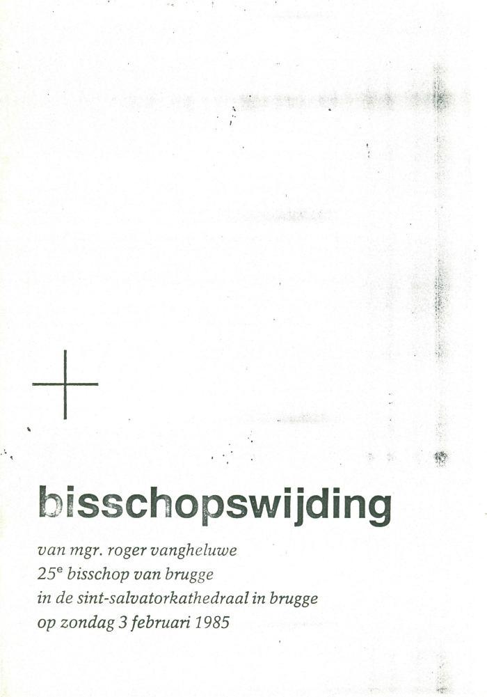 Bisschopswijding Roger Vangheluwe, 1985