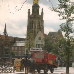 Kaart met nieuwjaarswensen van Brouwerij Rodenbach, Roeselare, 1984