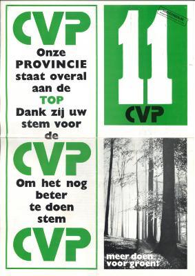 Verkiezingsfolder van de CVP voor de wetgevende verkiezing dd 10 maart, Roeselare, 1974