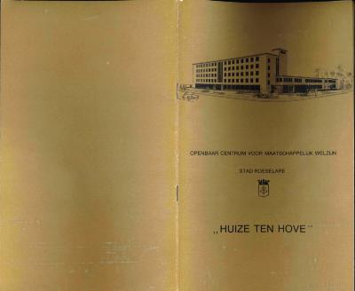 Informatiebrochure over Huize Ten Hove, Roeselare, 1977