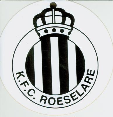 Sticker voetbalploeg K.F.C., Roeselare