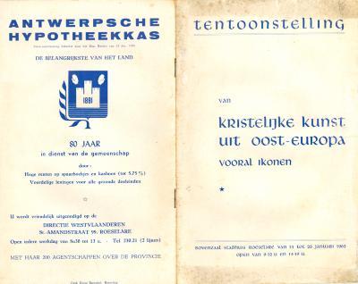 "Catalogus tentoonstelling "" Ikonen"", Roeselare, 1962"