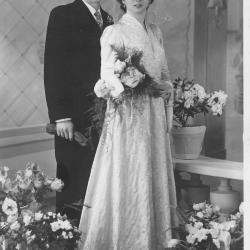 Huwelijksfoto Raphaël Duhamel en Jenny Olivier