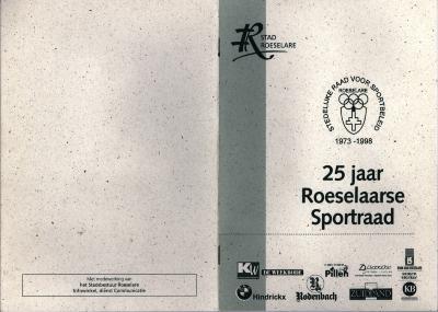 Brochure bij 25 jaar Roeselaarse sportraad, Roeselare, 1998