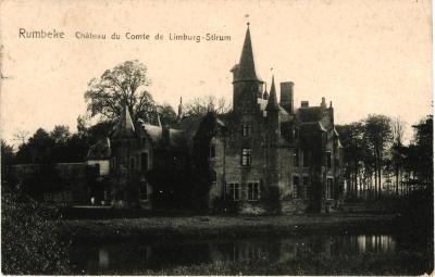 Kasteel van de graaf De Limburg-Stirum, Rumbeke, 1908