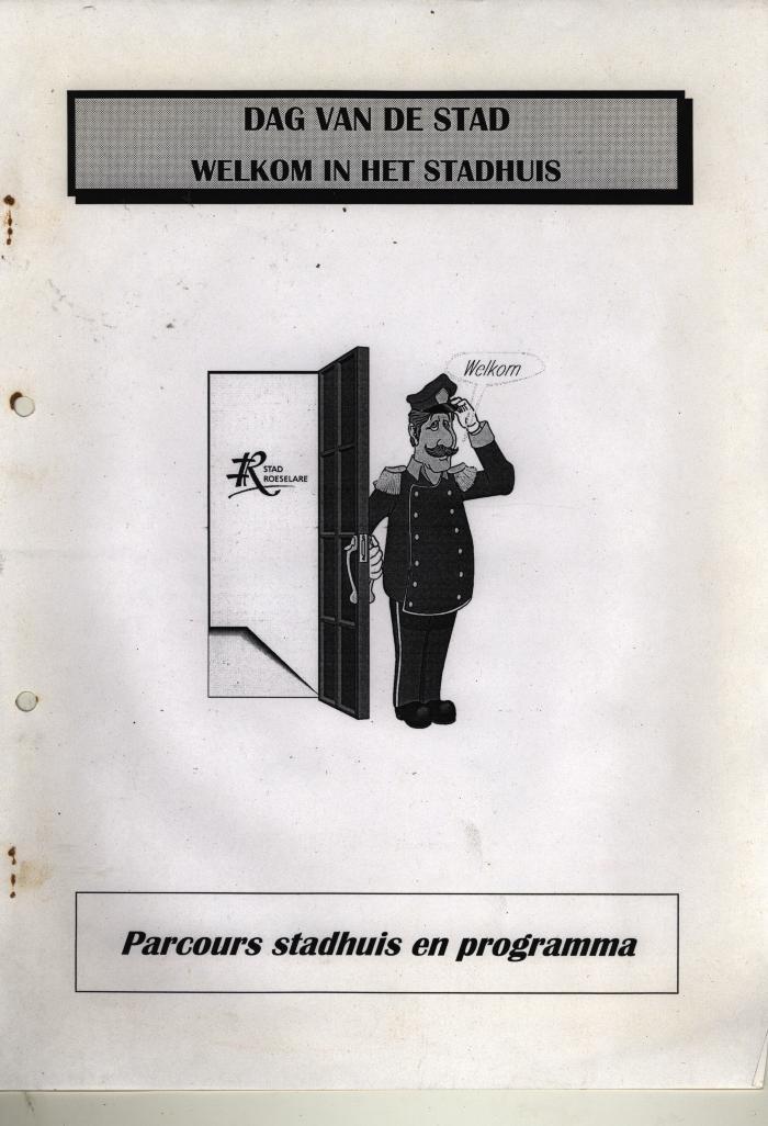 Brochure rondleiding stadhuis, Roeselare,  */- 1990