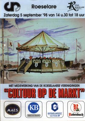 Uitnodiging tot viering van 30 jaar stedelijke raad voor cultuurbeleid, Roeselare, 1998