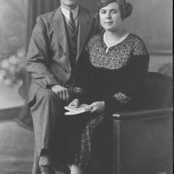 Huwelijksfoto Michel en Helene Declercq