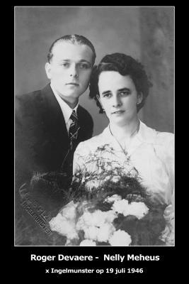 Huwelijksfoto Roger Devaere en Nelly Meheus, Ingelmunster, 1946