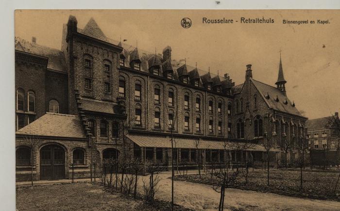 Roeselare 'Retraitehuis' binnengevel en kapel