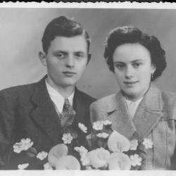 Huwelijksfoto Roger Declercq en Alice Coppens