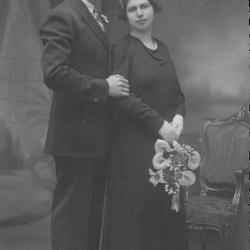 Huwelijksfoto Georges Declercq en Bertha Brulez