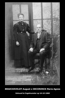 Huwelijksfoto August Braeckeveldt - Maria Agnes Deconinck, Ingelmunster, 1868