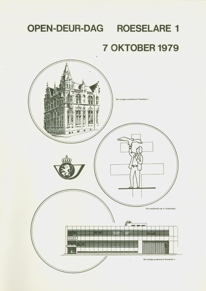 Affiche opendeurdag postkantoor Roeselare 1, 7 oktober 1979.
