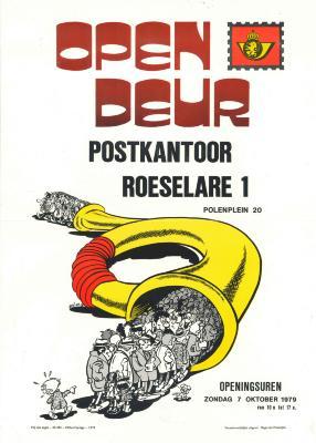 Affiche Opendeur Postkantoor Roeselare 1, zondag 7 oktober 1979.