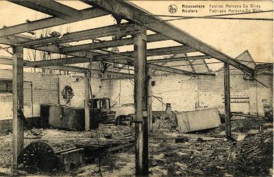 Fabriek Melsens-De Wilde in puin